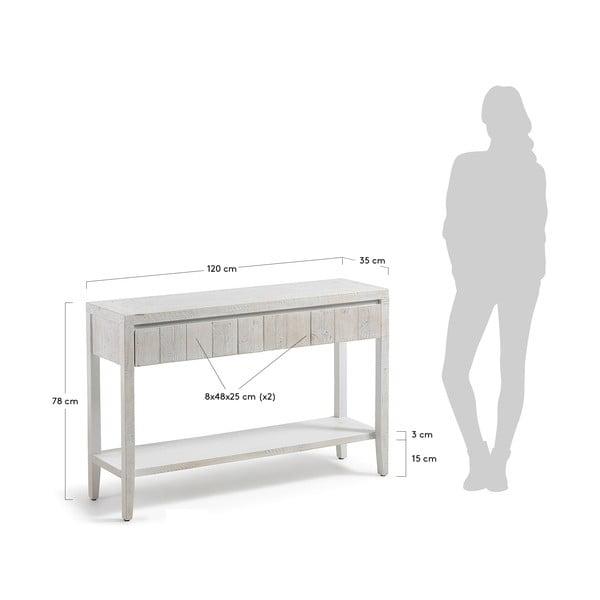 Bílý konzolový stolek La Forma Woody