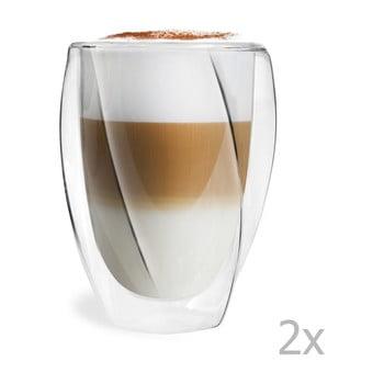 Set 2 pahare cu perete dublu Vialli Design Latte, 300 ml de la Vialli Design