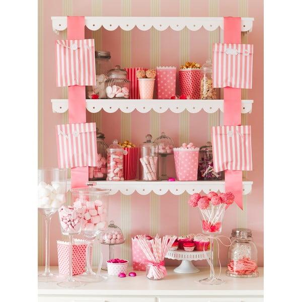 Papírové talíře Pink, 8 kusů