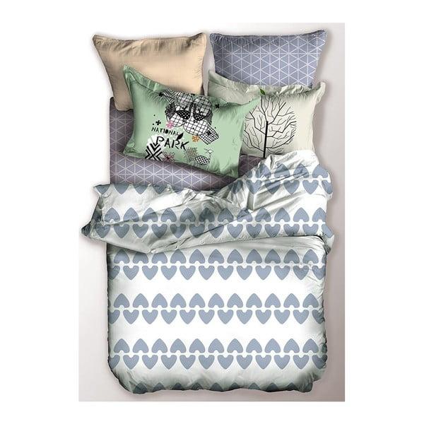 Lenjerie de pat din microfibră DecoKing Narnia, 155 x 220 cm