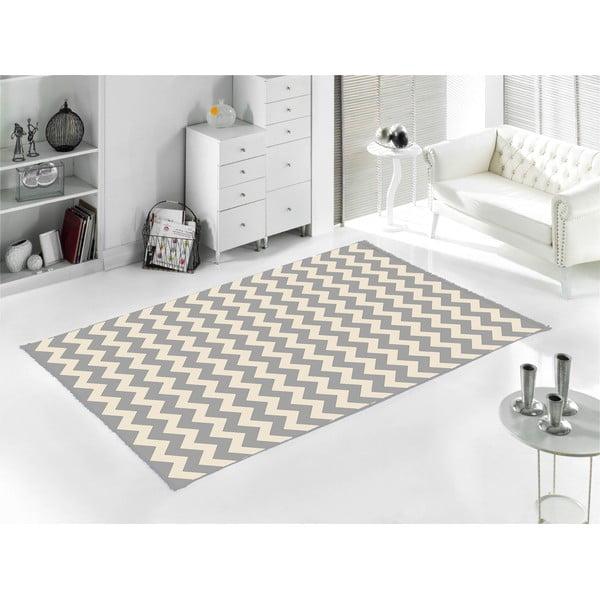 Šedý koberec Home De Bleu Zig Zag, 80x150cm