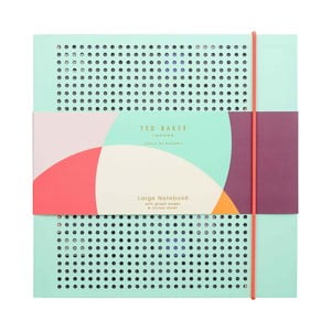 Světle tyrkysový zápisník Ted Baker Colour By Numbers