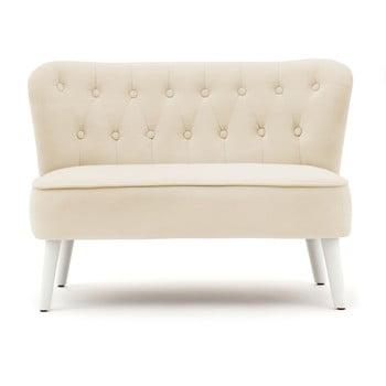 Canapea pentru copii PumPim Lia, 85 cm, bej