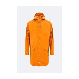 Oranžová unisex bunda s vysokou voděodolností Rains Long Jacket, velikost L/XL