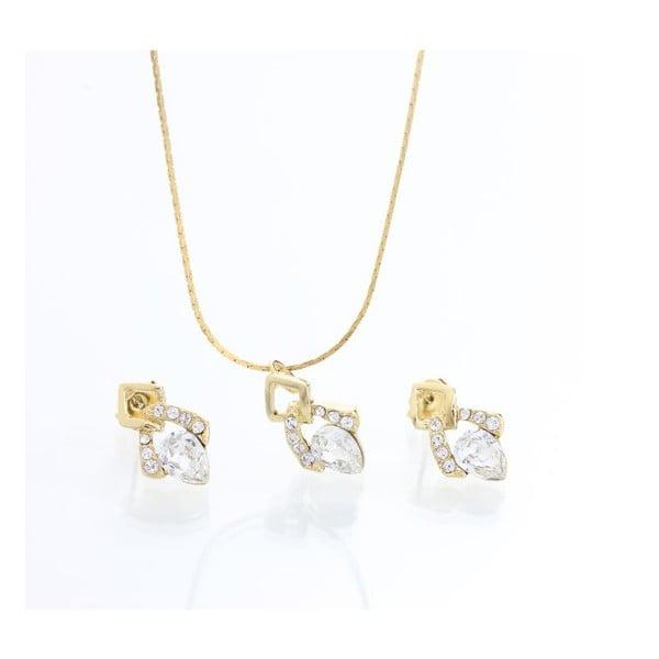 Set náhrdelníku a náušnic Laura Bruni Classy Crystal