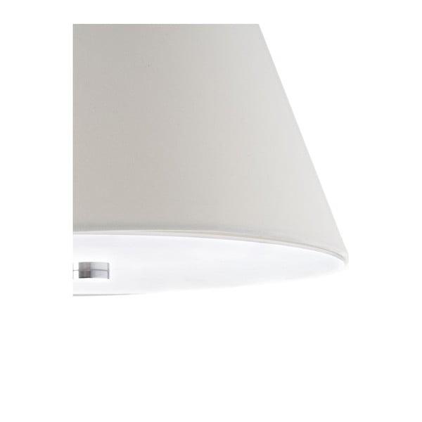 Stojací lampa s bílým stínidlem a mramorovou základnou Tomasucci Smarty
