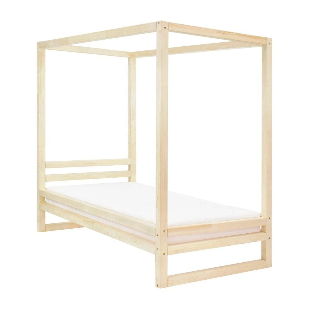 Dřevěná jednolůžková postel Benlemi Baldee Natura, 200 x 120 cm