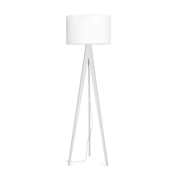 Stojací lampa Artist White/White, 125x42 cm