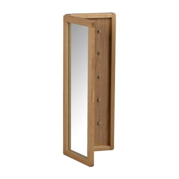 Dulăpior pentru chei, din lemn de stejar, cu oglindă, de culoare naturală Rowico Metro imagine
