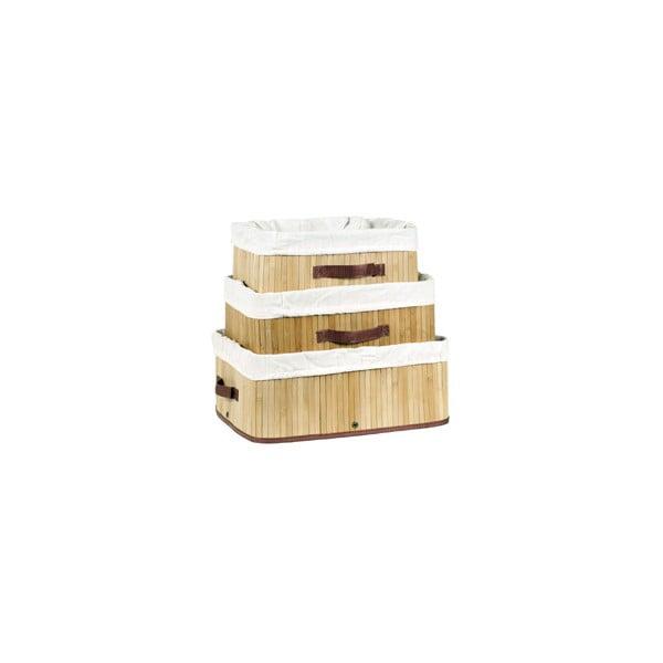 Sada 3 bambusových košů