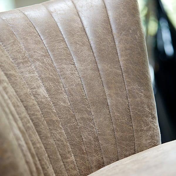 Hnědé křeslo s podnožím z dubového dřeva Canett Winston
