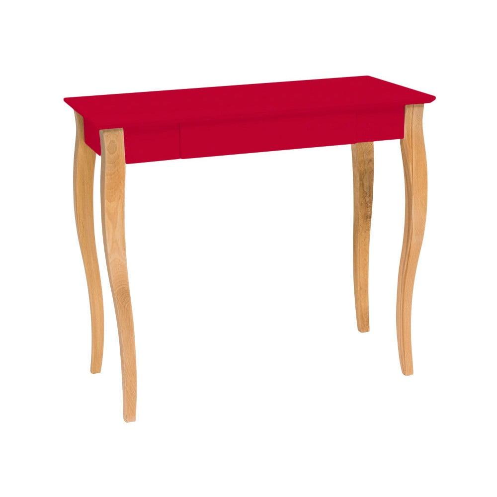 Červený psací stůl Ragaba Lillo, šířka 85 cm