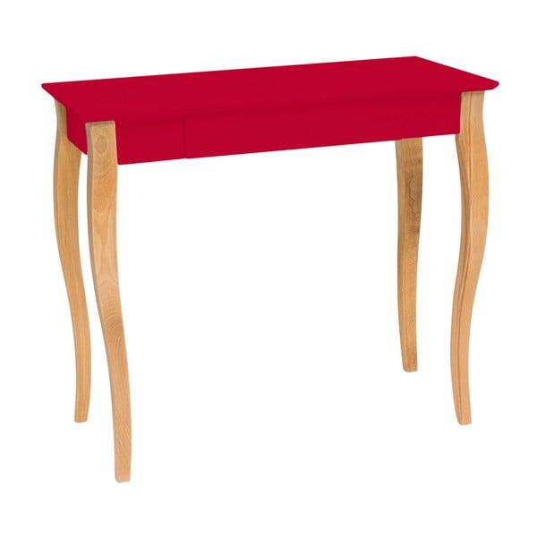 Červený psací stůl Ragaba Lillo, šířka85cm
