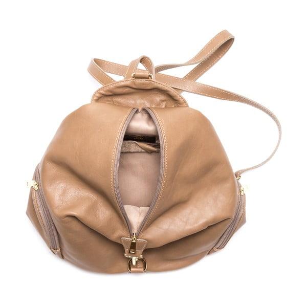 Kožený batoh Santa, šedohnědý