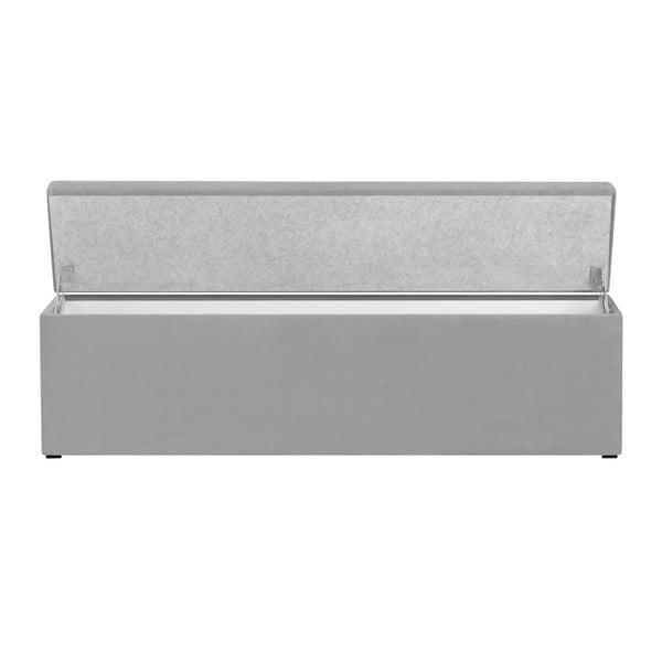 Světle šedá lavice s úložným prostorem Cosmopolitan Design Los Angeles, šířka 140cm