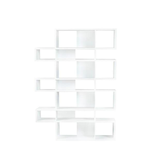 London fehér könyvespolc, magasság 220 cm - TemaHome