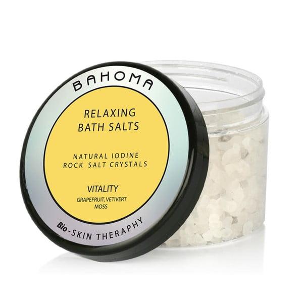 Koupelová sůl s vůní cedru a bazalky Bahoma London Vitality, 550g