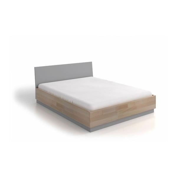 Dvoulůžková postel z bukového a borovicového dřeva SKANDICA Finn, 200 x 200 cm