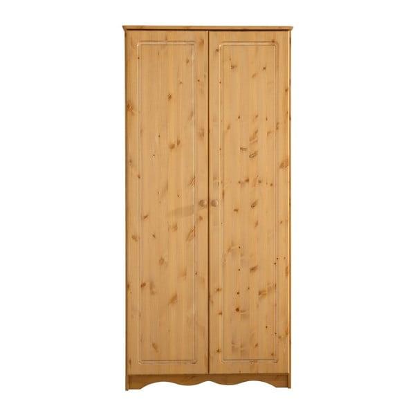 Șifonier din lemn de pin masiv cu 2 uși Støraa Amanda, natural