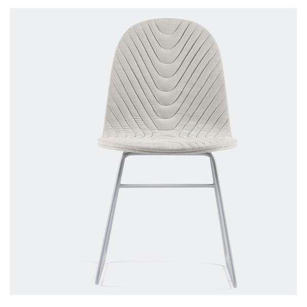 Židle Mannequin Metal, krémová z kavárny U Kubistů