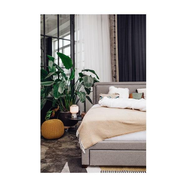 Antracitově šedá dvoulůžková postel Chez Ro Sascha,160x200cm