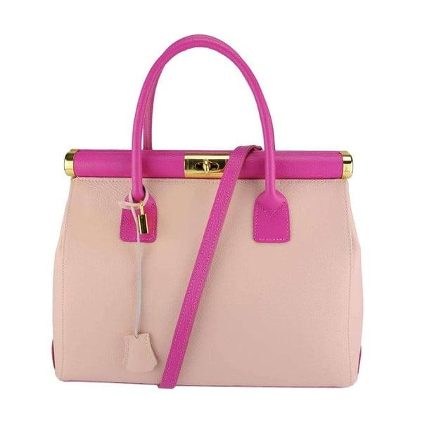 Kožená kabelka Bast Pink & Fuchsia