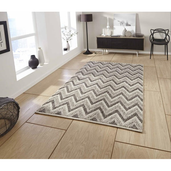 Koberec Think Rugs Alpha Natural, 120 x 170 cm