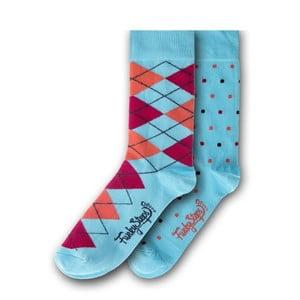 Sada 2 párů ponožek Funky Steps Caro, velikost 39 – 45