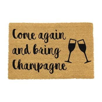 Covoraș intrare din fibre de cocos Artsy Doormats Bring Champagne, 40 x 60 cm imagine
