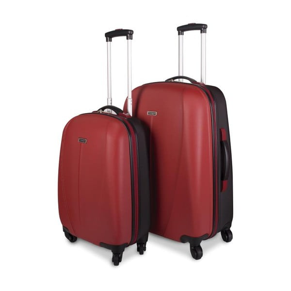Sada 2 červených cestovních kufrů Tempo