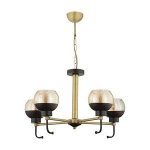 Černo-zlaté závěsné svítidlo Masivworks Luxaro