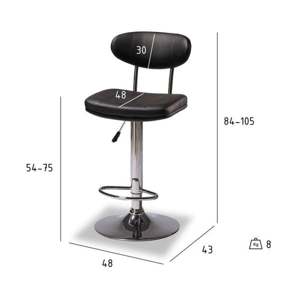 Sada 2 barových židlí Furnhouse Alba
