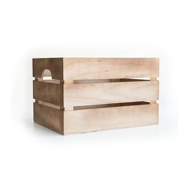 Rustikální dřevěná bedýnka Really Nice Things Marron