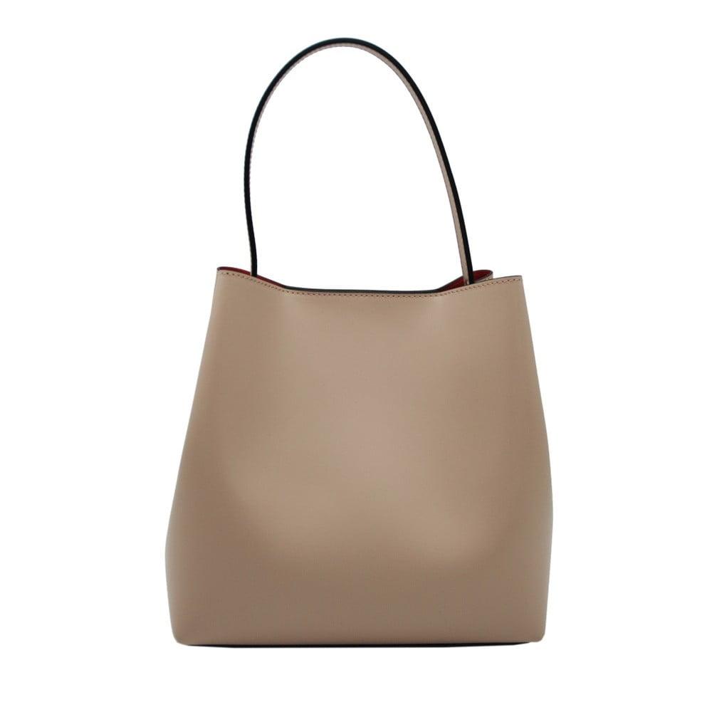 f77352818a6 Béžová kabelka z pravé kůže Andrea Cardone Simple