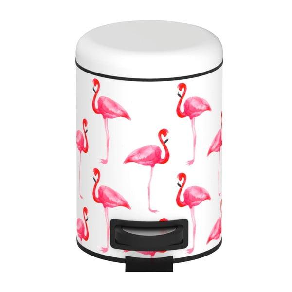 Coș de gunoi cu pedală Wenko Flamingo, 3 l, alb