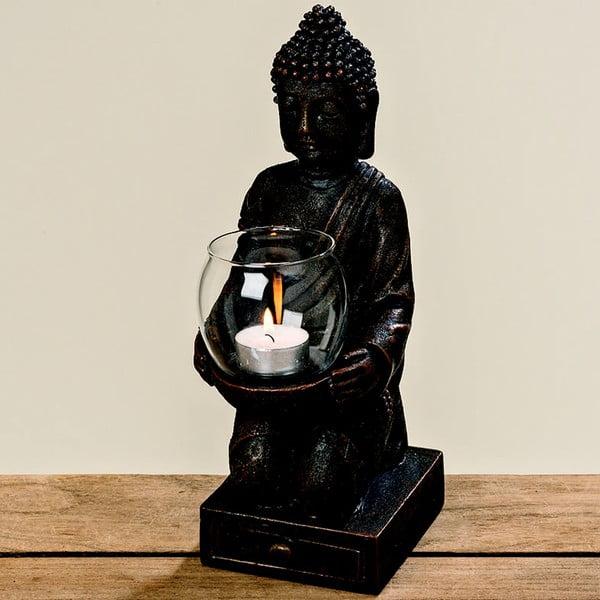 Sfeșnic Boltze Budhha, negru