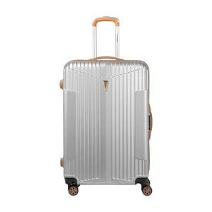 Bílý kufr na kolečkách Murano Europa