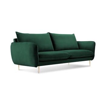 Canapea cu tapițerie din catifea Cosmopolitan Design Florence, verde de la Cosmopolitan Design