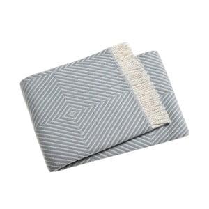 Blankytně modrý pléd s podílem bavlny Euromant Tebas, 140x180cm