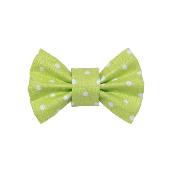 Světle zelený charitativní psí motýlek s puntíky Funky Dog Bow Ties, vel. L