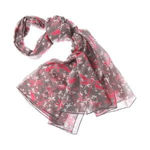 Šátek Mayfly Dark Pink, 180x70 cm