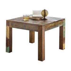Jídelní stůl z recyklovaného mangového dřeva Skyport DELHI, 60 x 60 cm