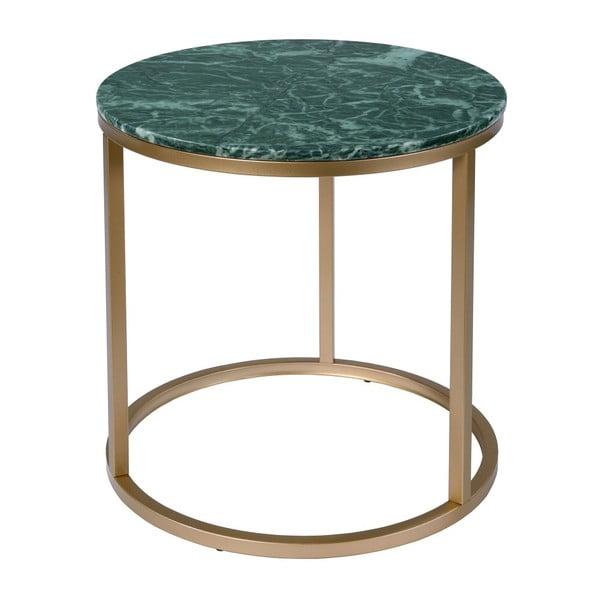 Kruhový odkládací stolek s mramorovou deskou RGE Accent