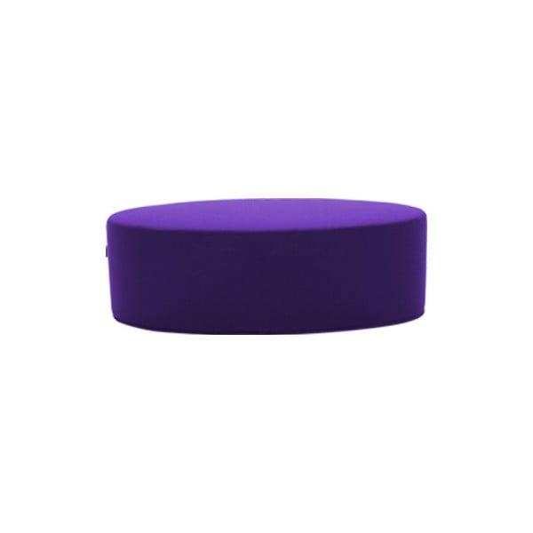 Tmavě fialový puf Softline Bon-Bon Felt Dark Lilac, délka 100 cm