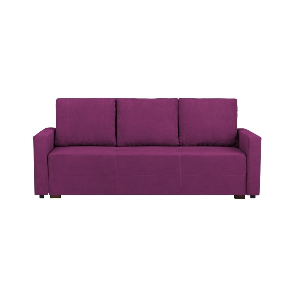 Tmavě fialová třímístná rozkládací pohovka s úložným prostorem Melart Francisco