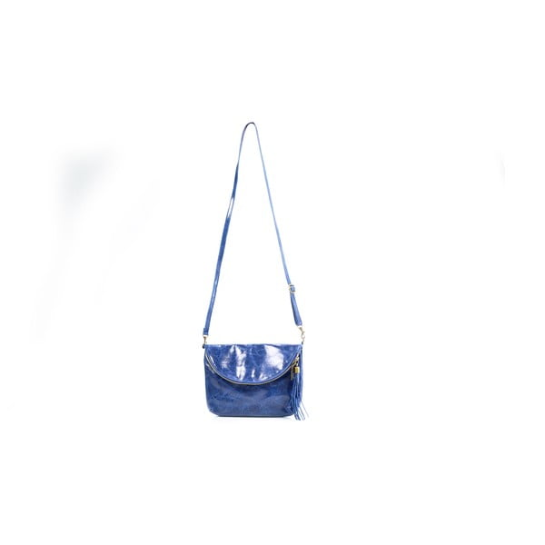 Kožená kabelka Tina, modrá