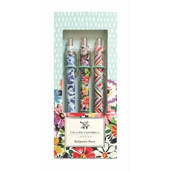 Sada 3 kuličkových per Portico Designs Floral