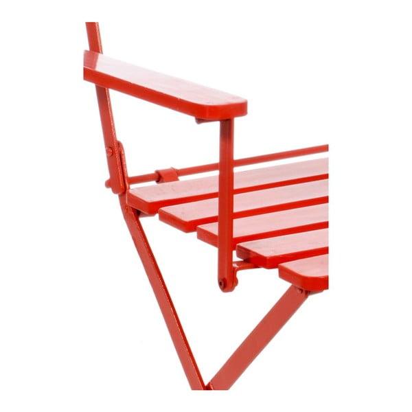 Židle Armrest Red, 60x54x89 cm
