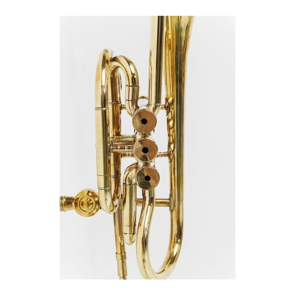 Nástěnný věšák ve zlaté barvě Kare Design Trumpet Jazz