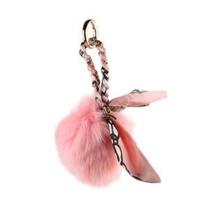 Růžový přívěšek na kabelku Matilde Costa Baja